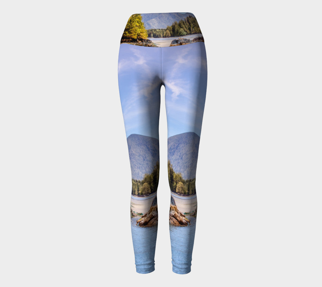 Tofino Inlet Yoga Leggings by Roxy Hurtubise VanIsleGoddess.Com Full Front