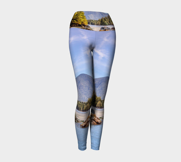 Tofino Inlet Yoga Leggings by Roxy Hurtubise VanIsleGoddess.Com Front