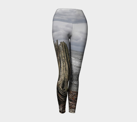 Gray Day Yoga Leggings by Roxy Hurtubise VanIsleGoddess.Com Front