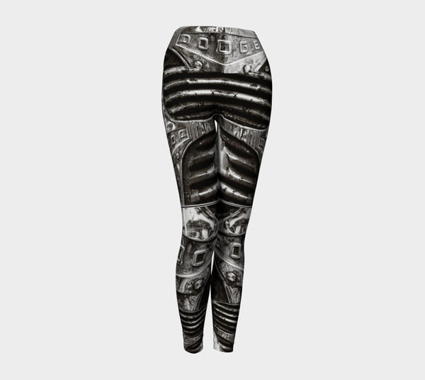 Dodge Girl II Yoga Leggings by Roxy Hurtubise VanIsleGoddess.Com Front