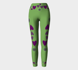 Heart Centered Yoga Leggings by Roxy Hurtubise VanIsleGoddess.Com Full Front