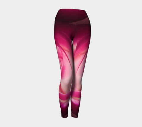 Illuminated Rose Yoga Leggings by Roxy Hurtubise VanIsleGoddess.com Front