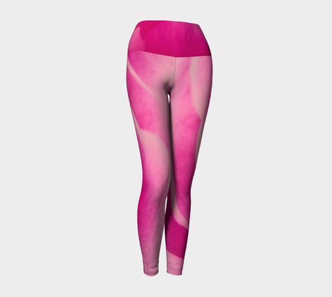 Rose Petal Kiss Yoga Leggings by Roxy Hurtubise VanIsleGoddess.Com Front