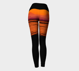 Saratoga Sunset II Yoga Leggings by Roxy Hurtubise VanIsleGoddess.Com Back