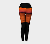 Saratoga Sunset II Yoga Leggings by Roxy Hurtubise VanIsleGoddess.Com Front