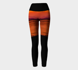 Saratoga Sunset II Yoga Leggings by Roxy Hurtubise VanIsleGoddess.Com Full Front