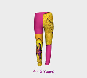 Star Track Youth Leggings  Van Isle Goddess youth leggings for ages 4 - 12.  Makes a great gift idea from Vancouver Island! by Roxy Hurtubise vanislegoddess.com