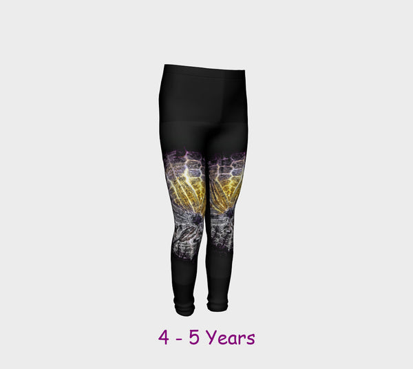Sand Dollar Spotlight Youth Leggings  Van Isle Goddess youth leggings for ages 4 - 12.  Makes a great gift idea from Vancouver Island! by Roxy Hurtubise vanislegoddess.com