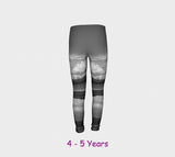 Parksville Beach Youth Leggings  Van Isle Goddess youth leggings for ages 4 - 12.  Makes a great gift idea from Vancouver Island! by Roxy Hurtubise vanislegoddess.com