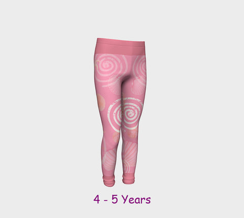 Island Goddess Rose Youth Leggings  Van Isle Goddess youth leggings for ages 4 - 12.  Makes a great gift idea from Vancouver Island! by Roxy Hurtubise vanislegoddess.com