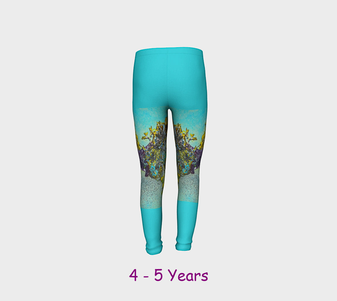 Starfish Paradise Youth Leggings  Van Isle Goddess youth leggings for ages 4 - 12.  Makes a great gift idea from Vancouver Island! by Roxy Hurtubise vanislegoddess.com