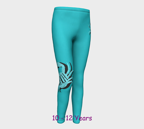 Beach Crab Youth Leggings