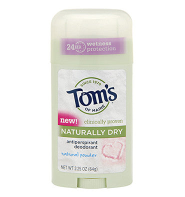 TOM'S OF MAINE, Desodorante Antitranspirante Natural, aroma Talco Natural, 64 gr.