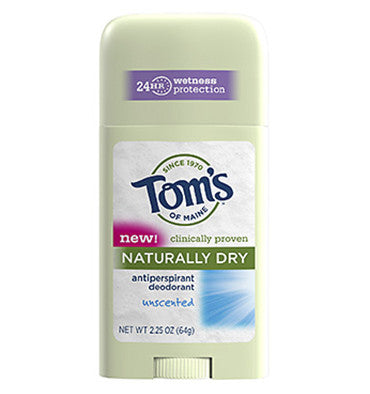 TOM'S OF MAINE, Desodorante Antitranspirante Natural, sin Aroma,  64 gr.