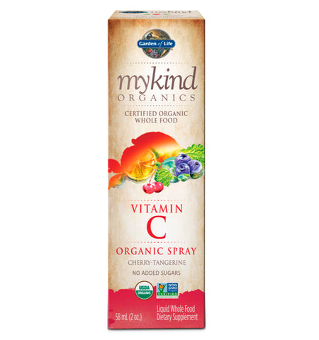 GARDEN OF LIFE, MYKIND, Vitamina C en spray, Sabor Cereza Mandarina, 58 ml.
