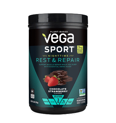 VEGA SPORT, Vega Sport Nighttime Rest and Repair, sabor Chocolate Strawberry 426 gr.
