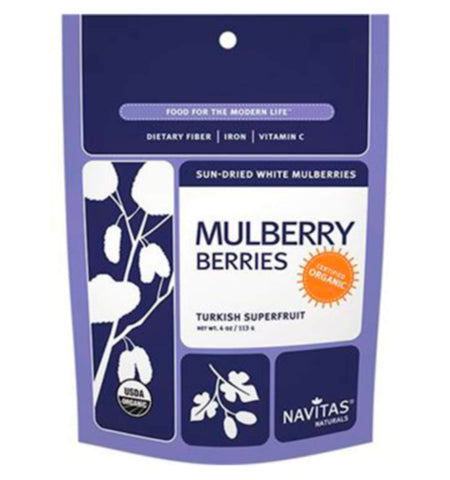 NAVITAS, White Mulberries, 113 gr.