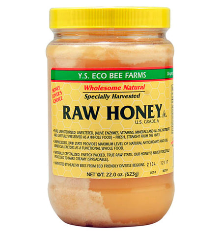 YS ECO BEE FARMS, Miel Raw, 623 gr.