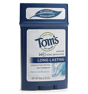 TOM'S OF MAINE, Desodorante Natural para Hombre, Clean Confidence, 64 gr.