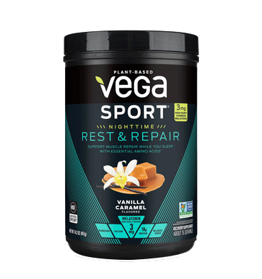 VEGA SPORT, Vega Sport Nighttime Rest and Repair, sabor Vanilla Caramel 401 gr.