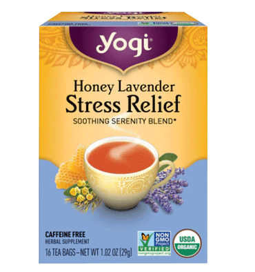 YOGI, Yogi Stress Relief Soothing Serenity Tea Blend Honey Lavender -- 16 Tea Bags