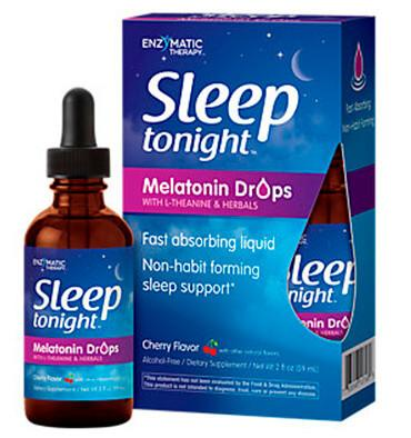 ENZYMATIC TERAPY, Sleep Tonight, Melatonina líquida, 2 oz.