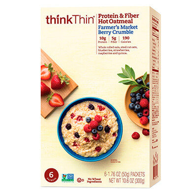"THINK THIN, Avena, Proteína y Fibra ""Farmers Market Berry"" 6 pack"