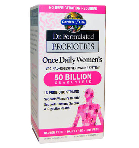 GARDEN OF LIFE, DR. FORMULATED, Probióticos para Mujeres 50 billion, 30 vcaps