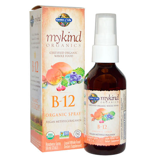 GARDEN OF LIFE, MYKIND, Vitamina B12 en spray, 58 ml.