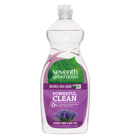 SEVENTH GENERATION, Detergente Natural para Platos, Aroma Lavanda y Menta, 739 ml.