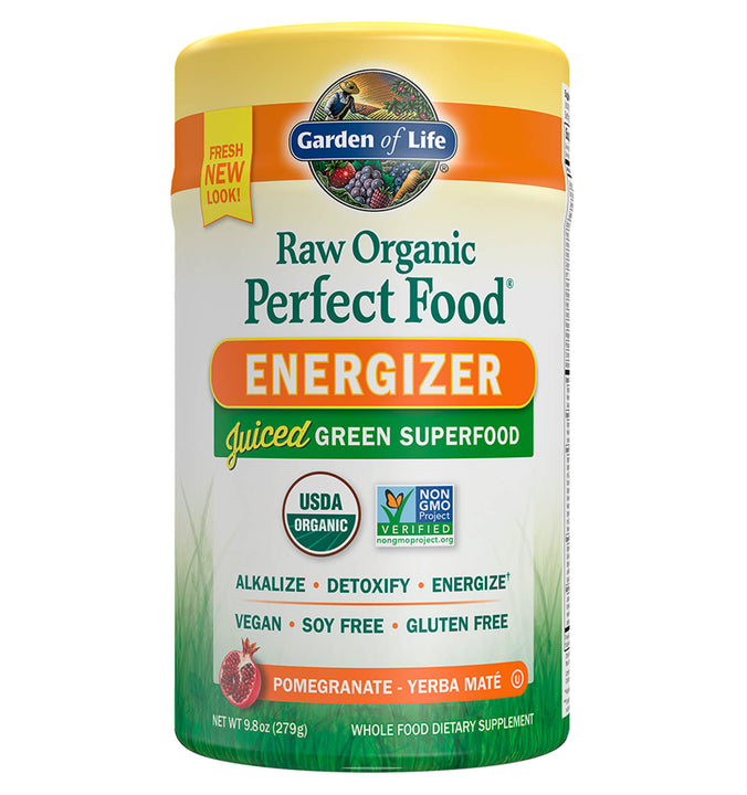 GARDEN OF LIFE, Perfect Food Orgánico Energizer, 279 gr.
