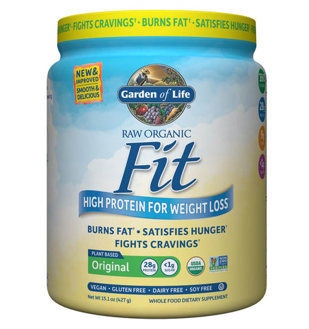 GARDEN OF LIFE, Proteína Raw Fit, Sabor Natural, 427g.