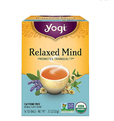 YOGI, Yogi Relaxed Mind Herbal Tea Caffeine Free, 16 Tea Bags