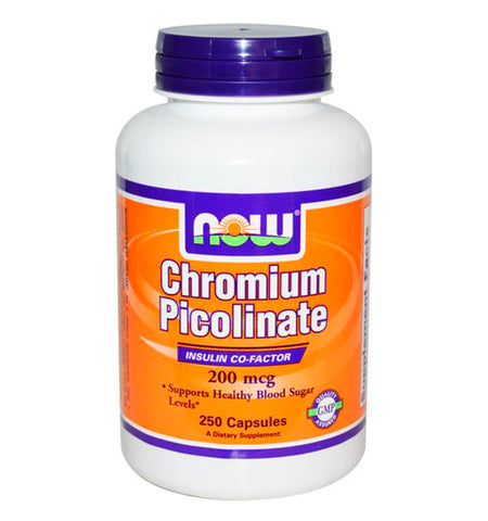 NOW FOODS, Chromium Picolinate 200 mcg. 250 tabs