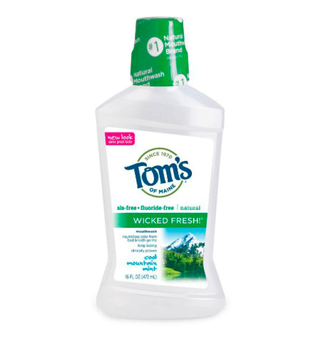 TOM'S OF MAINE, Wicked Fresh, Enjuague Bucal Natural, Sabor Cool Mountain Mint, 473 ml.