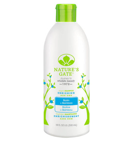 NATURE'S GATE, Shampoo de Biotina y Bamboo, 532 ml.