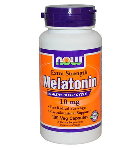 NOW FOODS, Melatonina 10 mg, 100 vcaps.