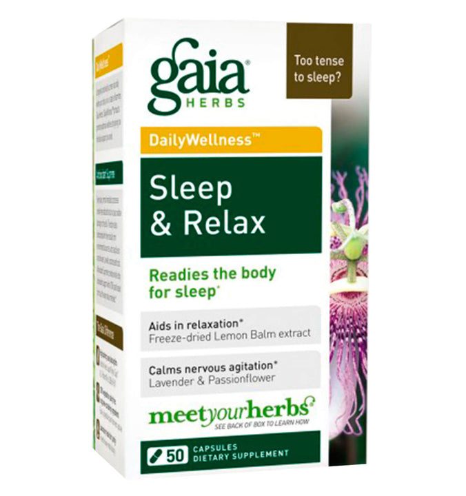GAIA HERBS, Sleep and Relax, 50 vcaps.
