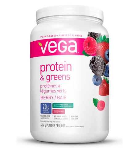 VEGA PROTEIN AND GREENS, Sabor Berry, 609 gr.