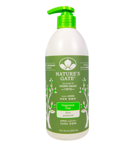 NATURE'S GATE, Crema Corporal Libre de Fragancia, 532 ml.