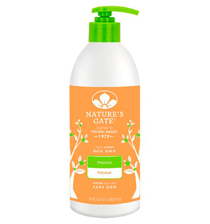 NATURE'S GATE, Crema Corporal de Papaya, 532 ml.