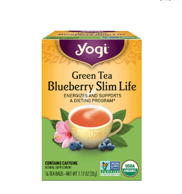 YOGI, Yogi Green Tea Blueberry Slim Life Blueberry, 16 Tea Bags
