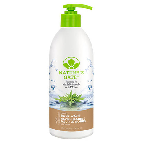 NATURE'S GATE, Gel de Baño de Hemp (Cañamo), 532 ml.