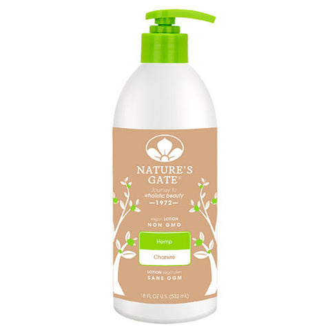 NATURE'S GATE, Crema Corporal de Hemp (Cañamo), 532 ml.