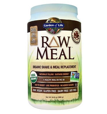 GARDEN OF LIFE, Raw Meal (Sustituto Alimenticio), Sabor Chocolate, 1017 gr.