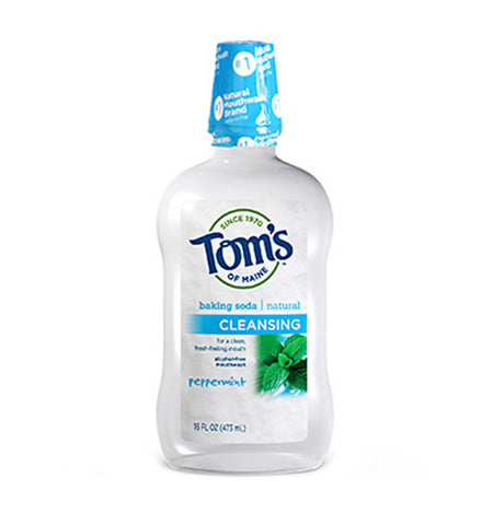 TOM'S OF MAINE, Cleansing, Enjuague Bucal Natural, Sabor Peppermint, 473 ml.
