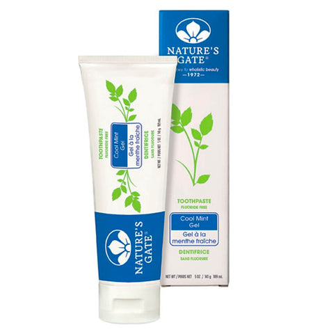 NATURE'S GATE, Pasta Dental, Sin Fluoruro, Sabor Gel de Menta 141 gr.