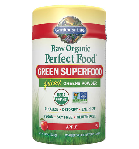 GARDEN OF LIFE, Perfect Food Raw Green Superfood Apple, 234 gr.