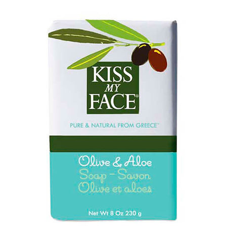 KISS MY FACE, Jabón Natural, Oliva y Aloe, 230 gr.