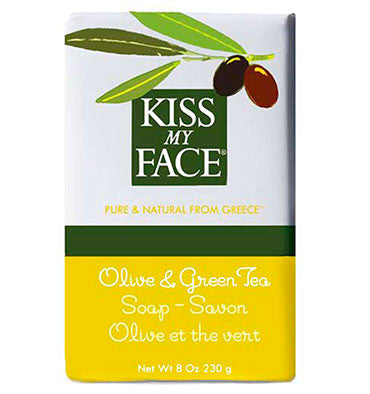 KISS MY FACE, Jabón Natural, Oliva y Té Verde, 230 gr.